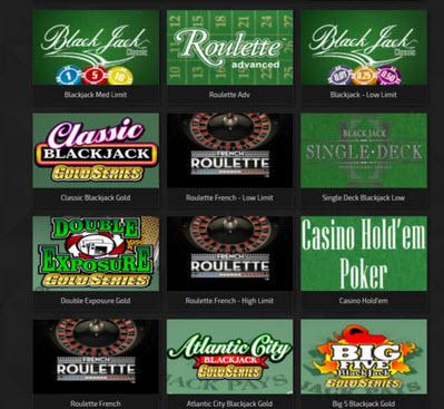 trada casino live games